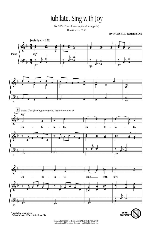 Jubilate, Sing With Joy