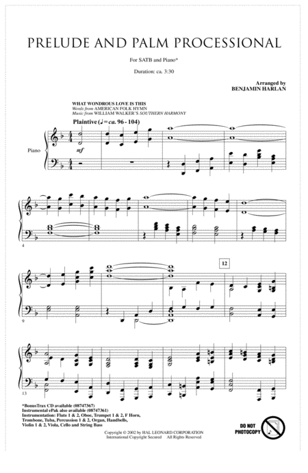 Prelude And Palm Processional