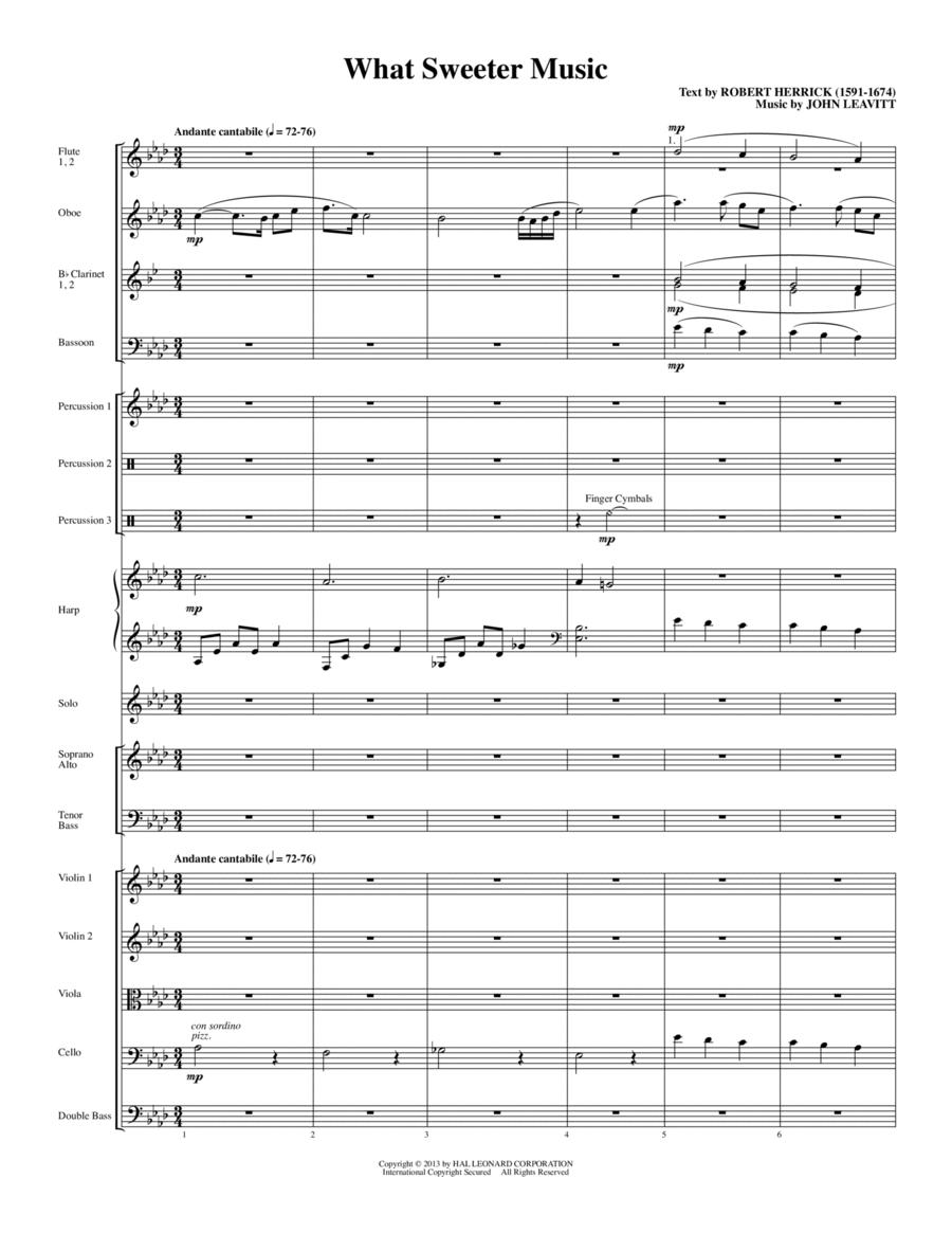 What Sweeter Music - Full Score