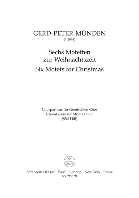 Six Motets for Christmas