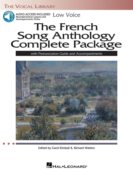 The French Song Anthology Complete Package - Low Voice