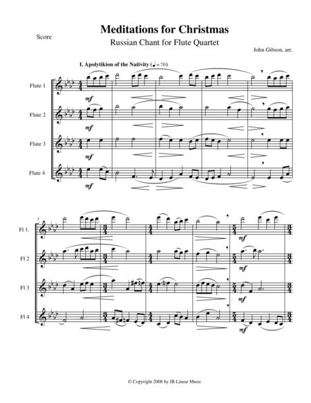 Meditations for Christmas, Russian Chant for Flute Quartet