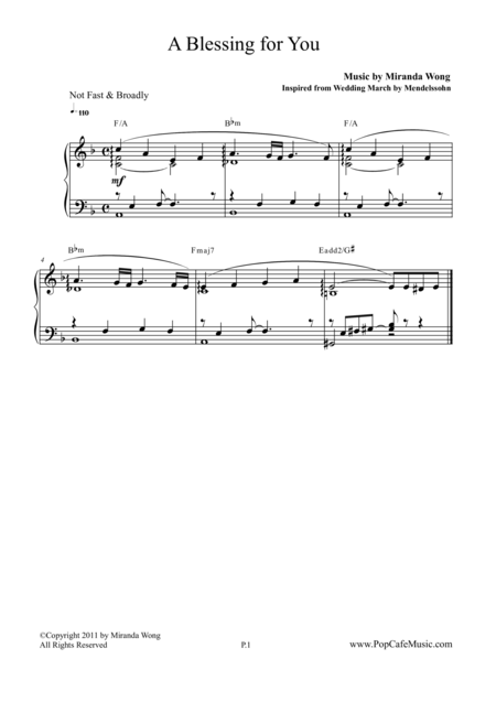 A Blessing for You - Grand Recessional Music
