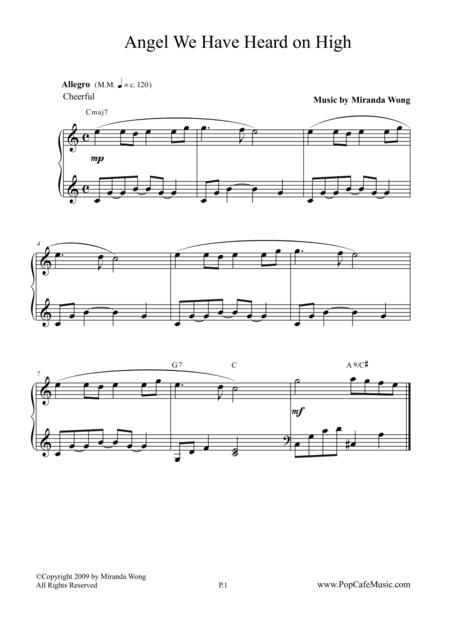 Angel We Have Heard on High - Romantic Piano Version