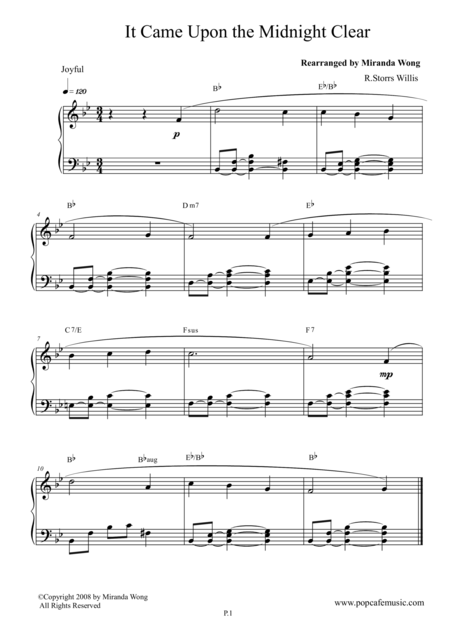 It Came Upon the Midnight Clear - Romantic Piano Version