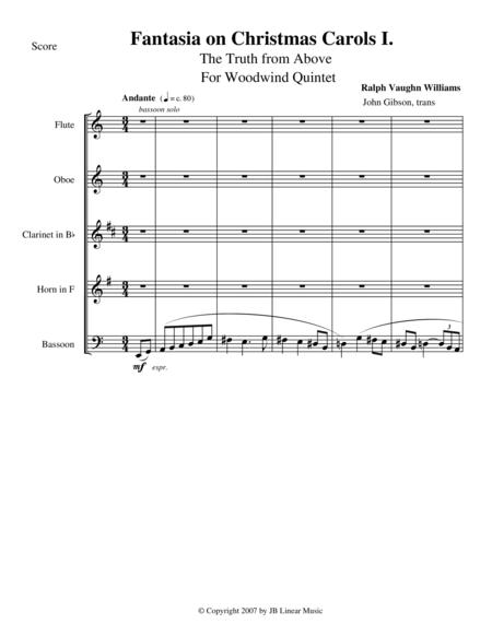 Vaughan Williams - Fantasia on Christmas Carols I for woodwind quintet