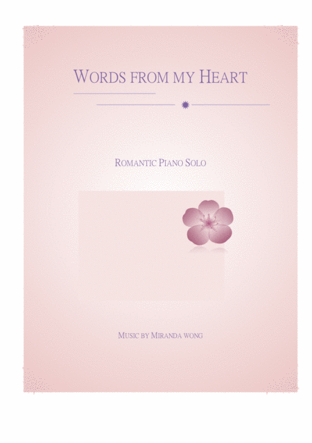 Words from my Heart - Wedding Vow Music (Piano)