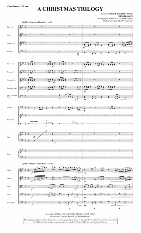 A Christmas Trilogy (from Carols For Choir And Congregation) - Score