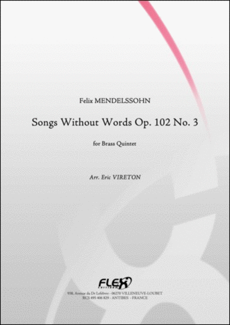 Songs Without Words Opus 102 No. 3
