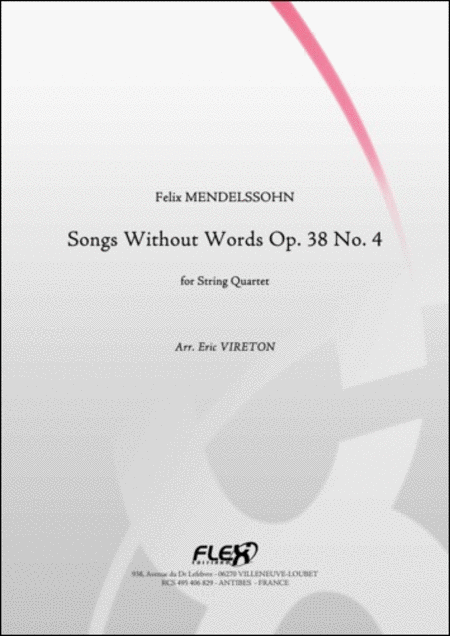 Songs Without Words Opus 38 No. 4