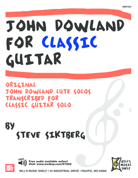 John Dowland for Classic Guitar