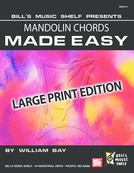 Mandolin Chords Made Easy, Large Print Edition