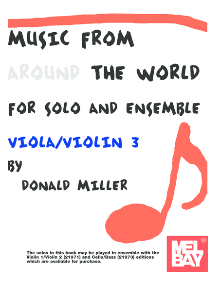 Music From Around The World For Solo & Ensemble, Viola-Violin