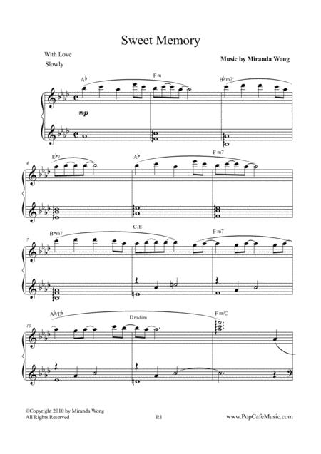 Sweet Memory - Romantic Piano Music