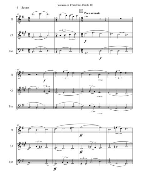 Vaughan Williams - Fantasia on Christmas Carols III for woodwind trio
