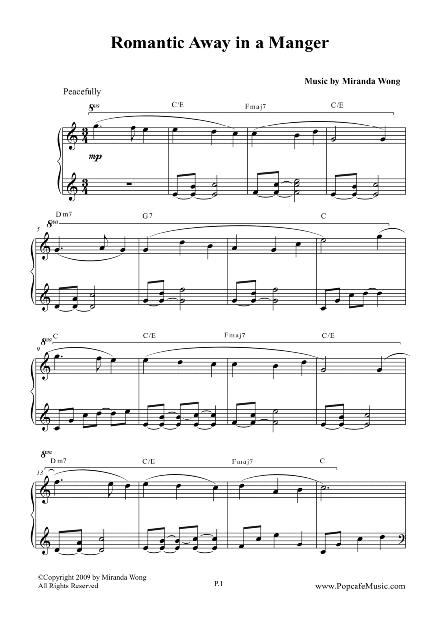 Romantic Away in a Manger - Lovely Piano Version