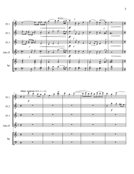 Handel's Messiah Selections for Flute Quartet
