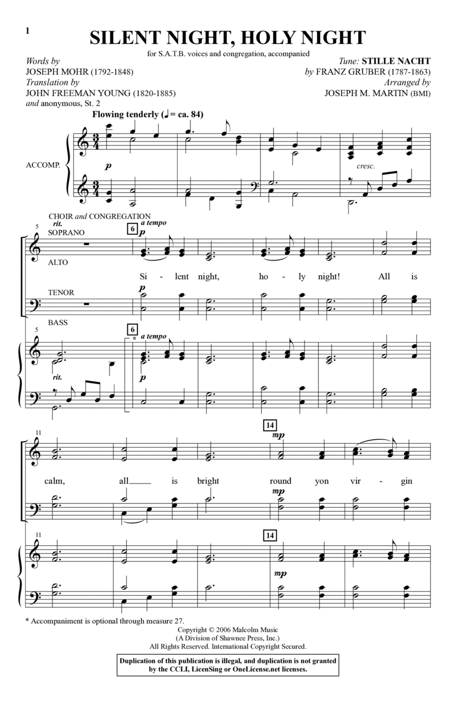 Silent Night, Holy Night (from Carols For Choir And Congregation)