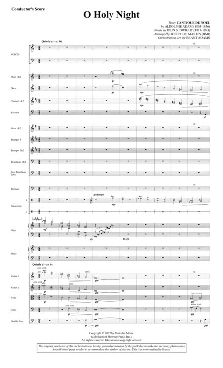 O Holy Night (from Carols For Choir And Congregation) - Score