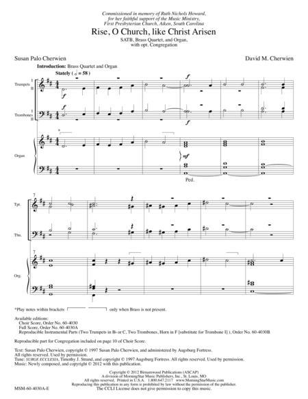 Rise, O Church, like Christ Arisen (Full Score)