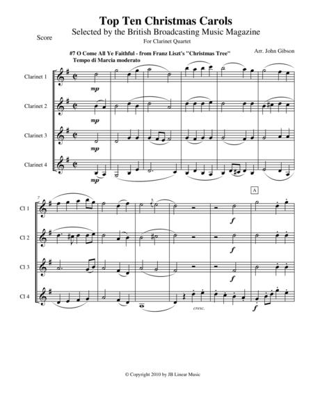 O Come All Ye Faithful for Clarinet Quartet