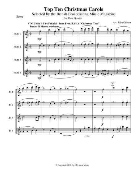 O Come All Ye Faithful for Flute Quartet