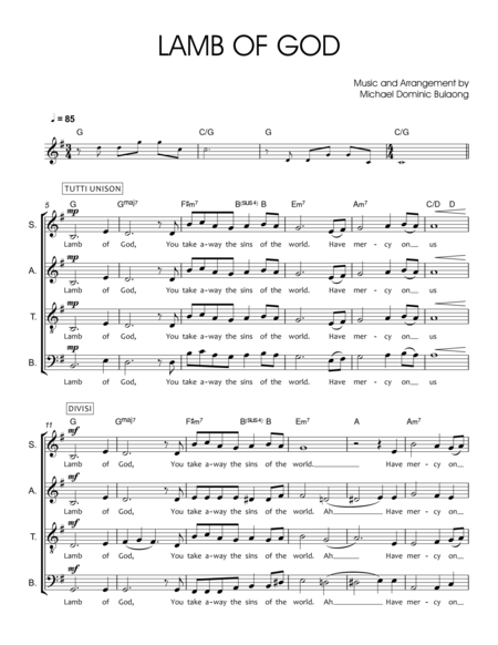 Lamb of God CHORAL SCORE (Proclaim: New English Translation of the Roman Missal)