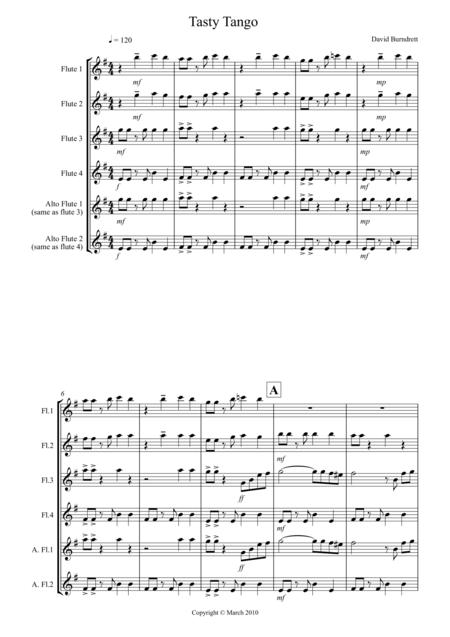 Tasty Tango for Flute Quartet