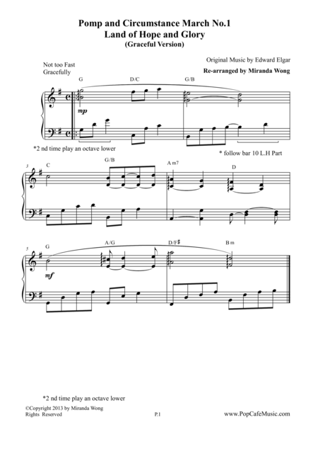 Pomp and Circumstance March No.1 (Land of Hope and Glory) - Graceful Version