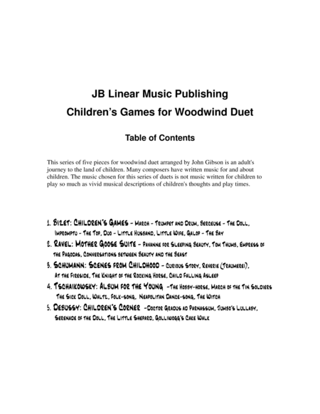 Children's Games Book for Clarinet and Bassoon Duet