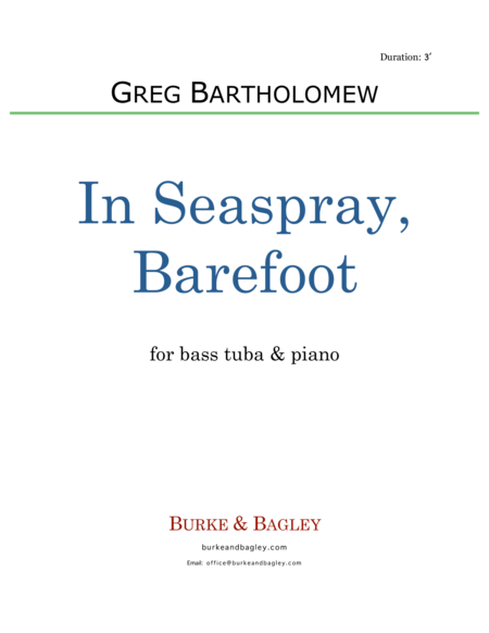 In Seaspray, Barefoot (tuba & piano)