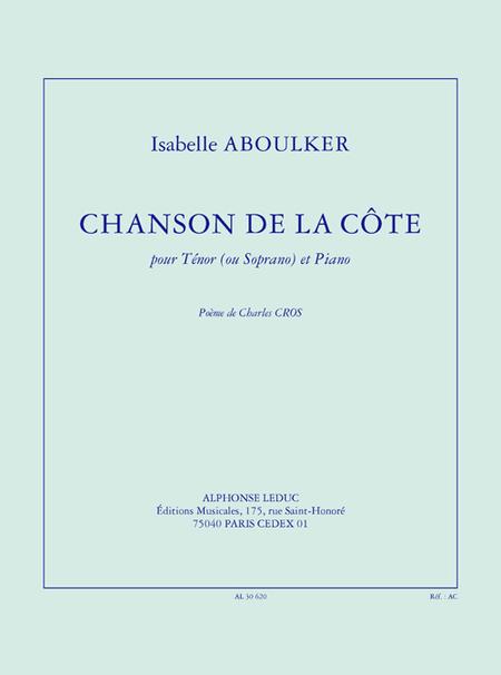 Chanson de La Cote - Chant (Tenor ou Soprano) et Piano