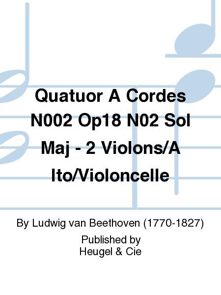 Quatuor A Cordes N002 Op18 N02 Sol Maj - 2 Violons/Alto/Violoncelle