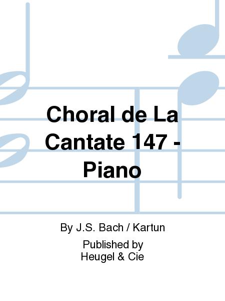 Choral de La Cantate 147 - Piano