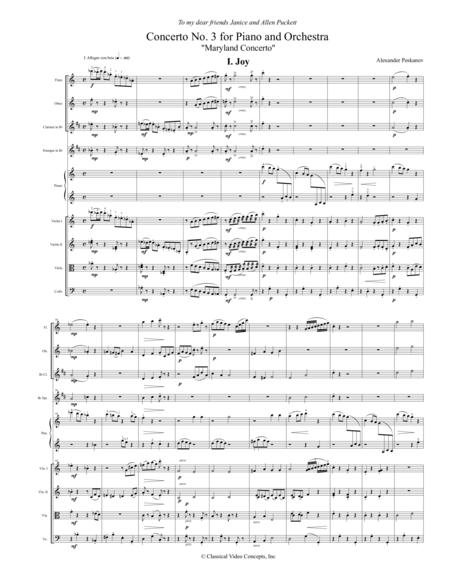 Concerto No. 3 (Maryland Concerto) - Orchestra Score