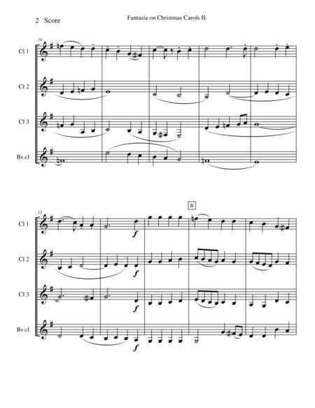 Vaughan Williams - Fantasia on Christmas Carols II for Clarinet Quartet