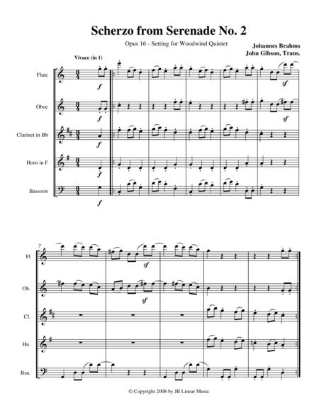 Brahms Scherzo from Serenade #2 for Woodwind Quintet