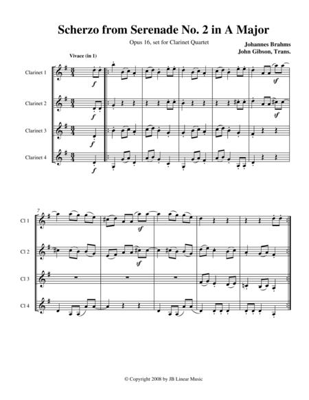 Brahms Scherzo from Serenade #2 for Clarinet Quartet