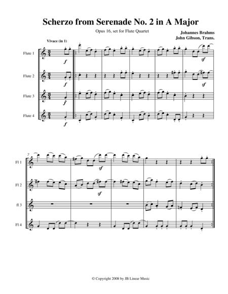 Brahms Scherzo from Serenade #2 for Flute Quartet
