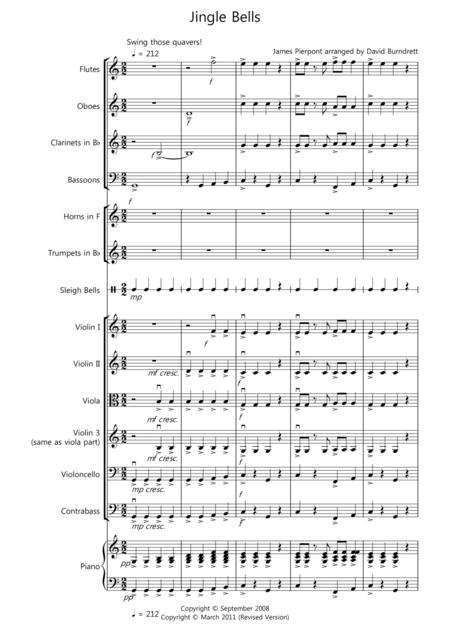 Jingle Bells For School Orchestra