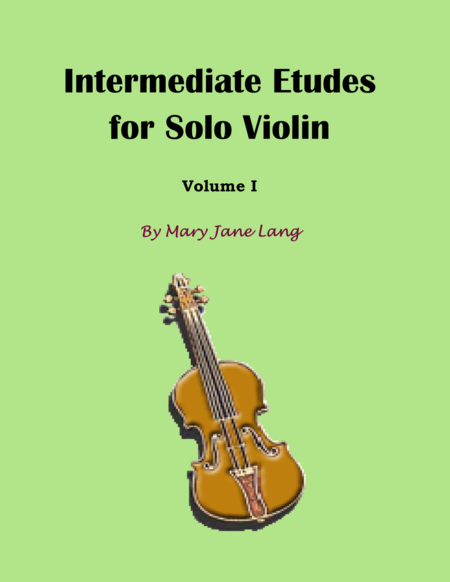 Intermediate Etudes for Solo Violin, Volume I