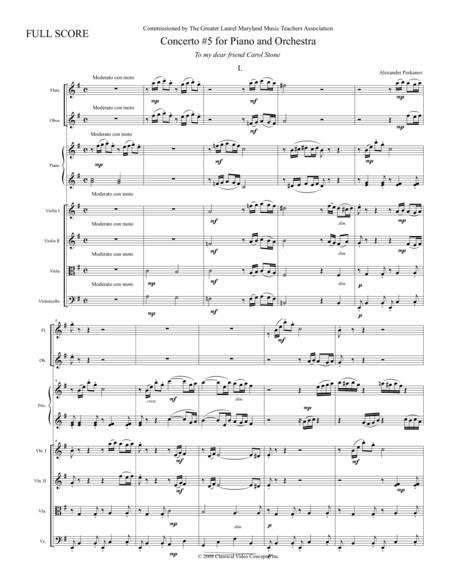 Concerto No. 5 - Orchestra Score
