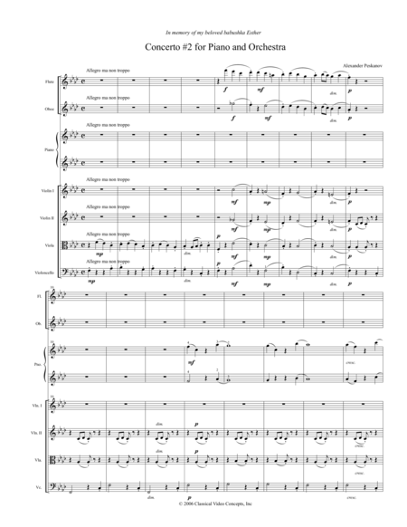 Concerto No. 2 (Ukrainian Concerto) - Orchestra Score