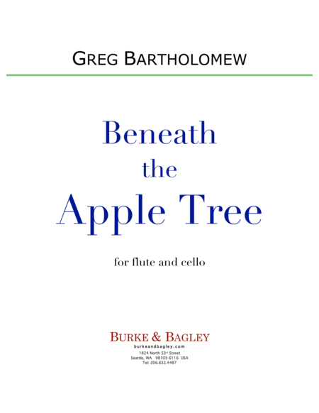 Beneath the Apple Tree (flute & cello)