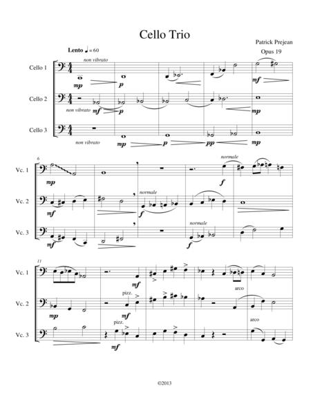 Cello Trio