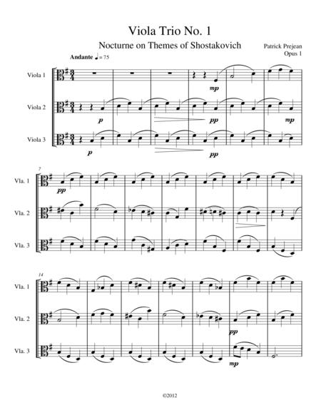 Viola Trio No. 1