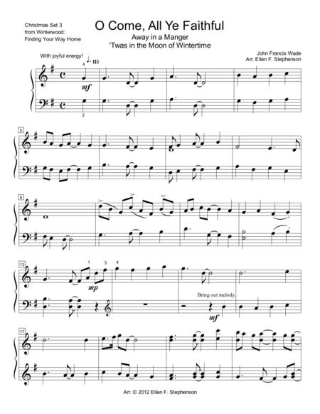 Christmas Medley 3: O Come All Ye Faithful, Away in A Manger, Huron Carol