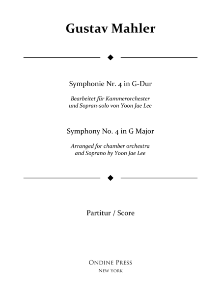 Mahler (arr. Lee): Symphony No. 4 in G Major 1st movement, Full Score