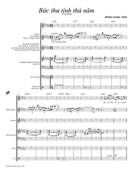 Buc Thu Tinh Thu Nam (Score  & Parts)