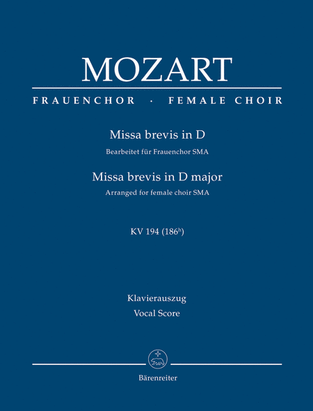 Missa brevis D major K. 194 (186h) (Arranged for female choir (SMA))